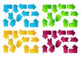 Color arrows — Stock Vector