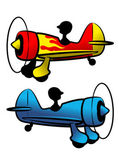 The funny aircrafts — Stock Vector