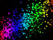 Rainbow splashes — Stock Photo