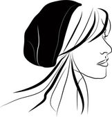 Girl in a hat — Stock Vector