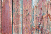 Red wooden fence — Stock Photo