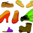 Stock Vector: Set of shoes