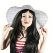 Beautiful girl with hat — Stock Photo
