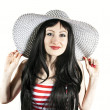 Stock Photo: Beautiful girl with hat