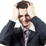 Эмоциональные расстройства в парня — Стоковое фото