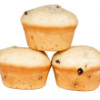 Baking muffins isolated - Stock Photo