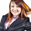 Business lady redheaded - Stock Photo