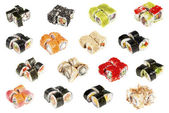 Assorted sushi isolated — Stock Photo