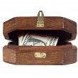 Jewelry box with the money - Stock Photo