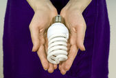 Beautiful hand held, lamp — Stock Photo