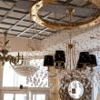 Stock Photo: Chandelier and light