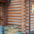 Stock Photo: Log house