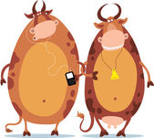 Two Cows — Stock Vector