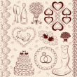 Stock Vector: Vector clipart wedding, wedding decorations