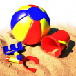 Beach toy kit — Stock Photo