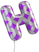 Letter H balloon 3d illustration — Stock Photo