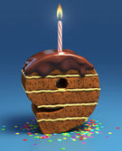 Chocolate birthday cake — Foto Stock