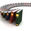 Books falling like dominoes — Stock Photo #9632130