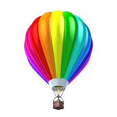 Isolated colorful air balloon 3d illustration — Stock Photo