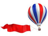 Air balloon advertisement — Stock Photo