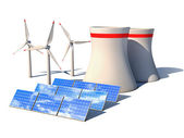 Alternative energy 3d concept — Stock Photo