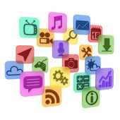 Colorful application app icons — Stock Photo