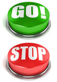 Go stop buttons — Stock Photo