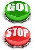 Botões ir parar — Foto Stock