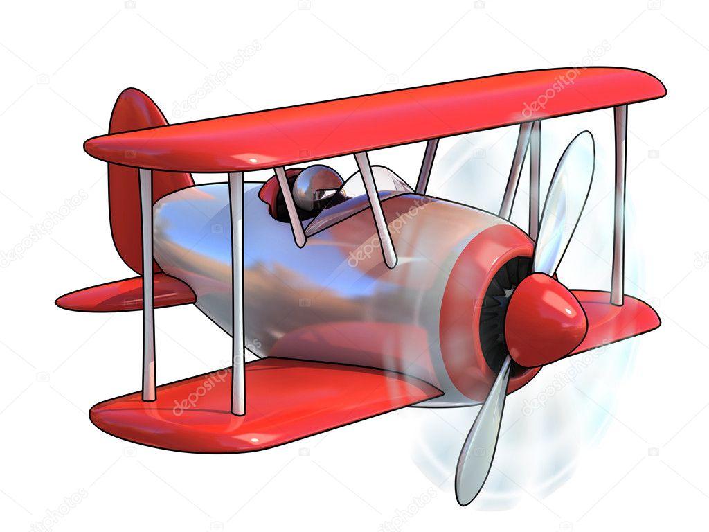 Avión de dibujos animados — fotos stock koya