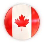 Badge - Canadian flag — Stock Photo