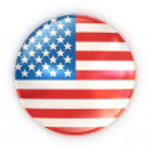 Flag badge - United States of America — Stock Photo