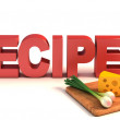 Background for recipes, cooking tips, menu — Stock Photo #9655336