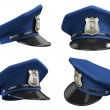 Stock Photo: Policemhat from various angles