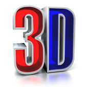 3d movie sign — Stock Photo