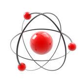 Atom 3d illustration isolated — Stock Photo