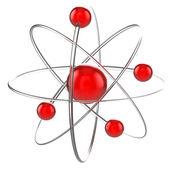 Atom 3d illustration — Stock Photo