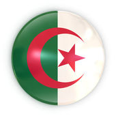 Badge - Algerian flag — Stock Photo