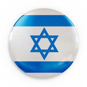 Badge - Israel flag — Stock Photo