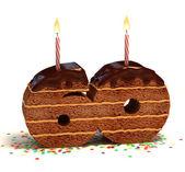 Chocolate birthday cake for a sixtieth birthday or anniversary celebration — Stock Photo