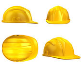 Construction helmet from different views — Zdjęcie stockowe