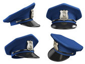 Policeman hat from various angles — Stock fotografie