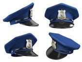 Sombrero de policía desde varios ángulos — Foto de Stock