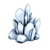 Crystal 3d illustration — Stock Photo