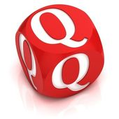 Dice font letter Q — Stock Photo