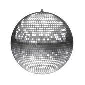 Beyaz izole bir disko topu — Stok fotoğraf