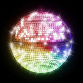 Colorful disco ball — Fotografia Stock