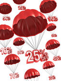 Big sale - discount 3d concept — Stock Photo