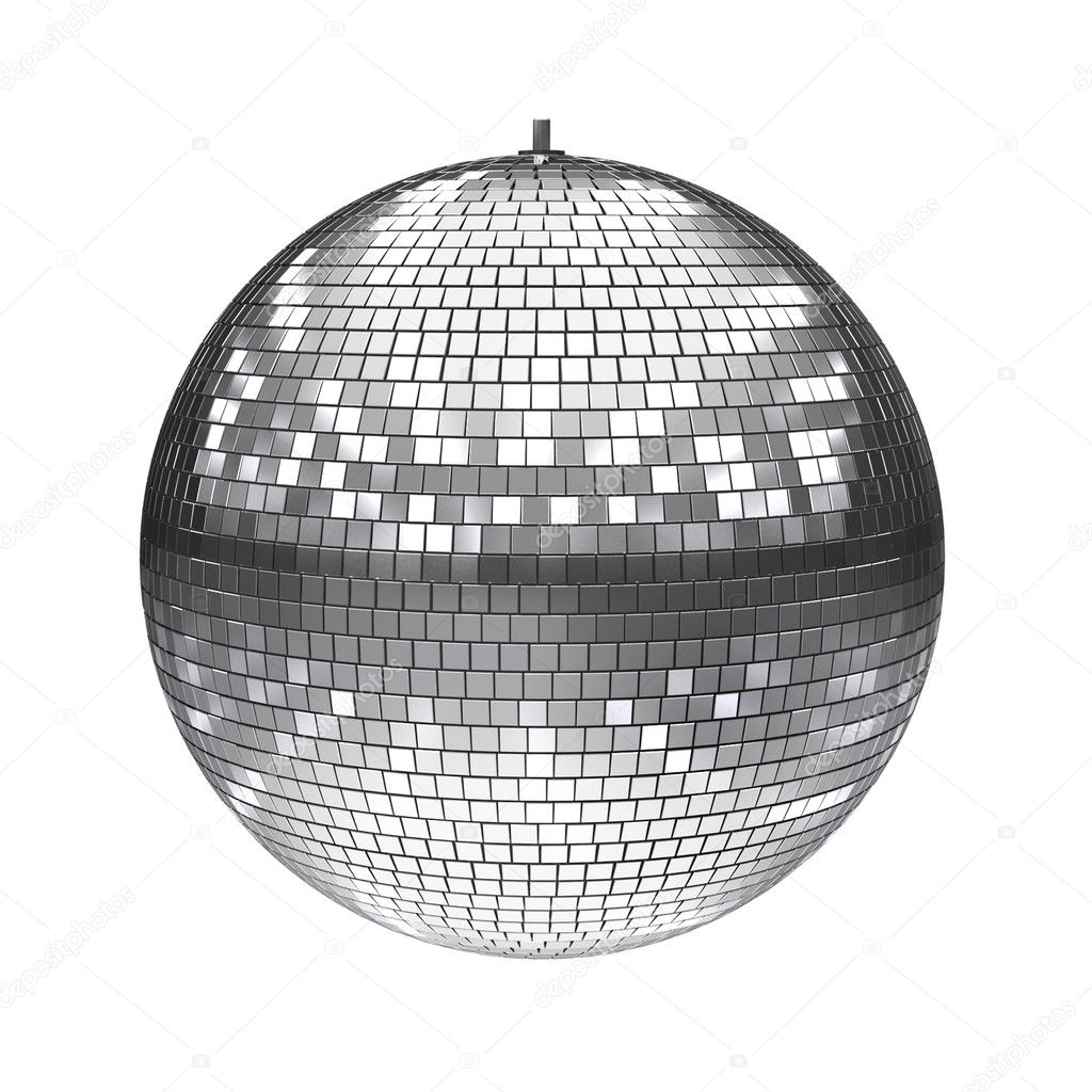 3d illustration of disco ball isolated on white — Stock Photo #9656267