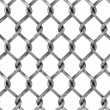Seamless chainlink fence — Stock Photo
