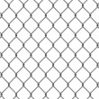 Seamless fence isolated — Stock Photo